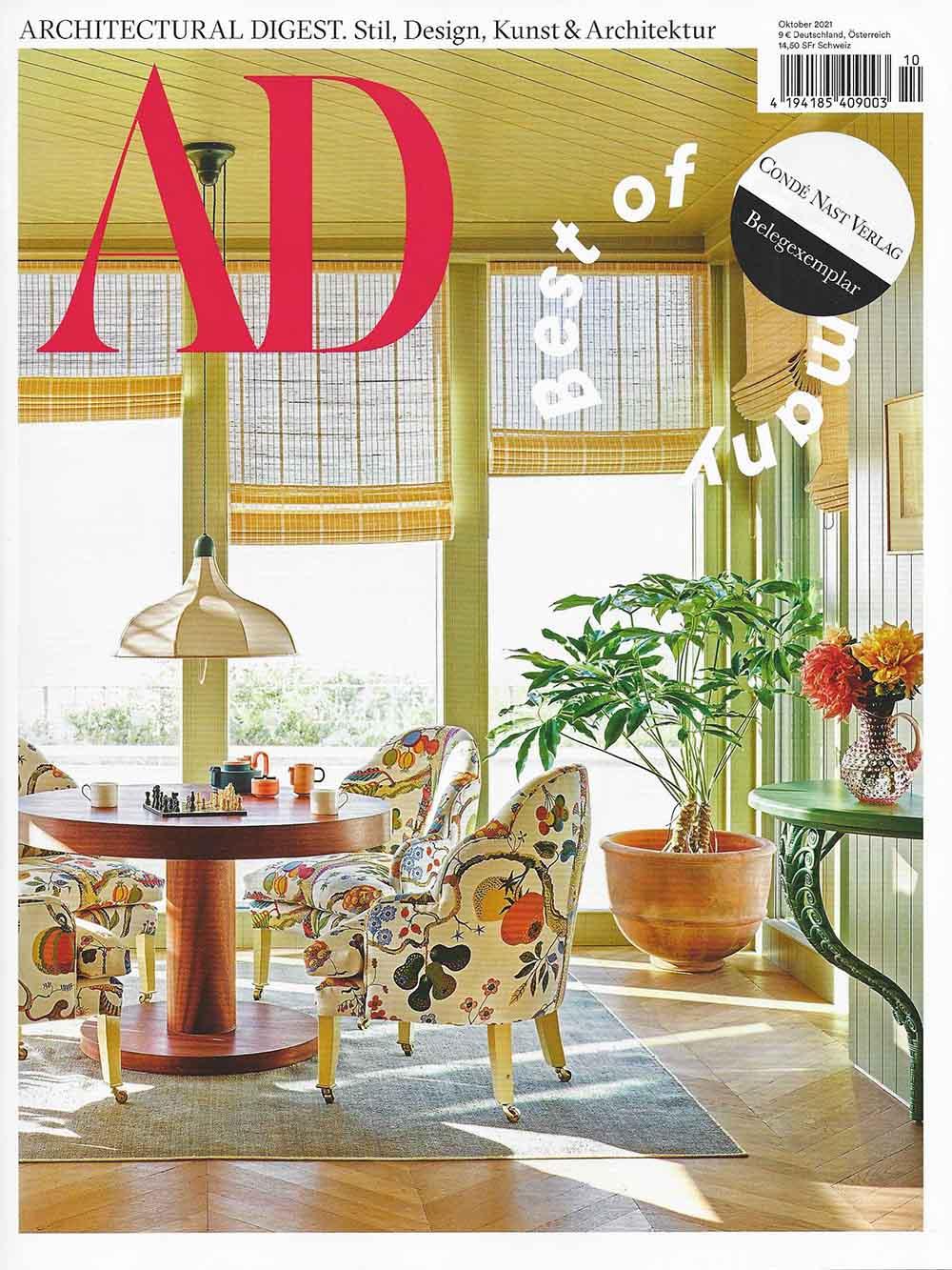ELOA – Unique Lights im AD Magazine Ausgabe 10/21 als Teil des Kollektivs Matter of Course bestehend aus 11 Designerinnen, welche mit Designobjekten luxuriöse Installationen zwischen Kunst und Design konzipieren